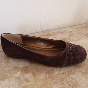 Chocolate Brown Suede Ballet Flats